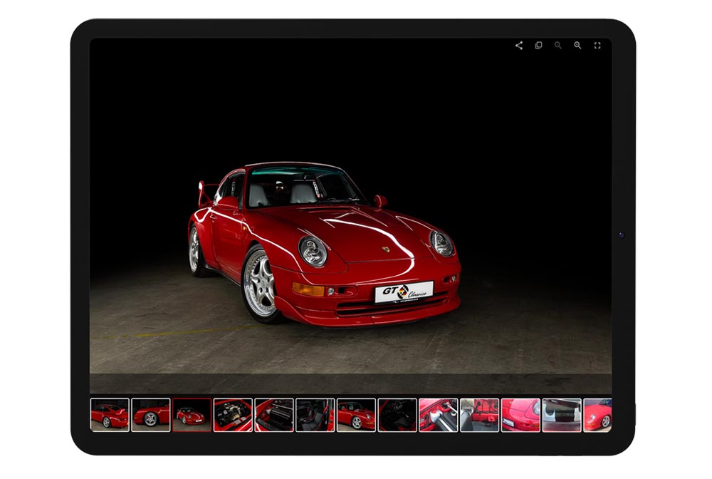 GT Classics Website on Tablet